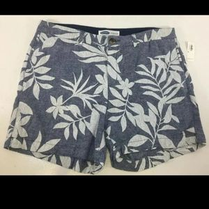 Old Navy Women's Blue Floral Everyday Shorts Sz 16